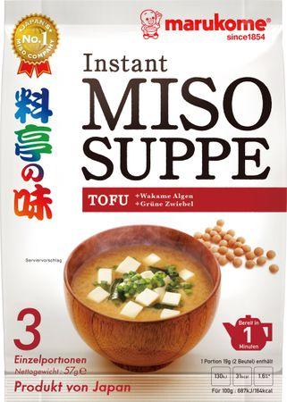 [ 57g ] marukome Instant Miso Suppe TOFU / Miso-Würzpaste + getrockneter Tofu