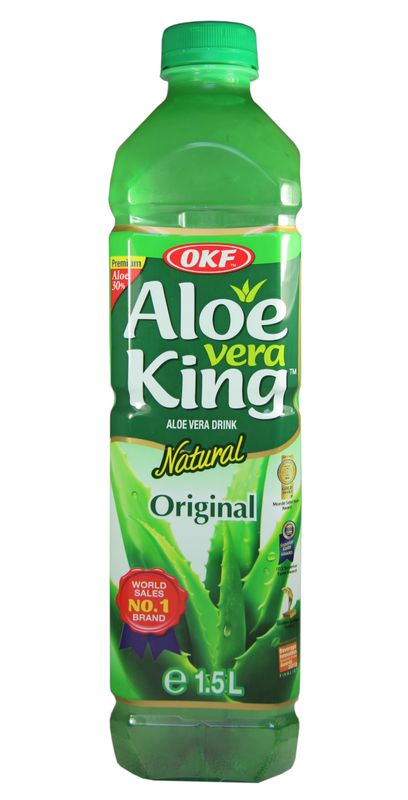 [ 1,5 Liter ] OKF Aloe Vera King Getränk mit 30% Aloe / Natural / Aloe Vera Drink