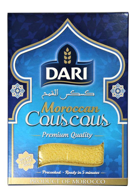 [ 500g ] DARI Moroccan Couscous / Kuskus / Zubereitung aus Hartweizengrieß, vorgekocht