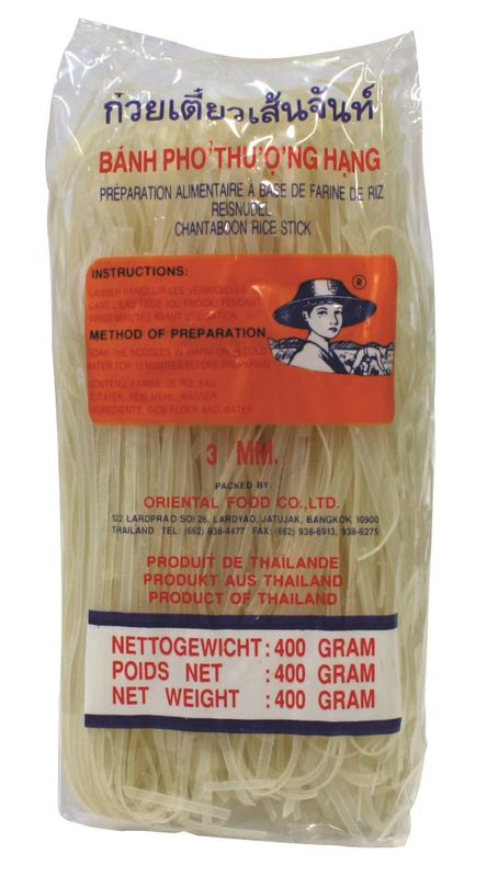 [ 400g ] FARMER Reisnudeln, 3mm Banh Pho / Bandnudeln / Rice Noodle