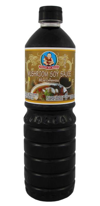 [ 1 Liter ] HEALTHY BOY BRAND Sojasauce mit Pilzgeschmack / Soy Sauce with Mushroom flavour