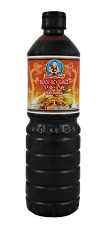 [ 1 Liter ] HEALTHY BOY BRAND Dunkle Sojasauce / Black Soy Sauce Orange Label