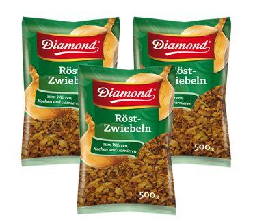 [ 3x 500g ] DIAMOND Röst-Zwiebeln / Geröstete Zwiebeln / Röstzwiebeln