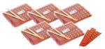 [ 5x 100 Paar ] Einmal Essstäbchen aus Bambus 22cm einzeln verpackt DOUBLE HAPPINESS 001