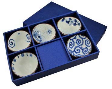 5 Schalen MADE IN JAPAN [  Ø11x10,5x5 cm ] jede Schale in einem anderem Dessin