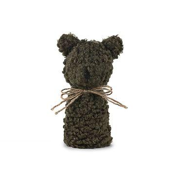 Eierwärmer Knuddelbär [ Teddybär grün ] für den fröhlichen Frühstückstisch 13cm