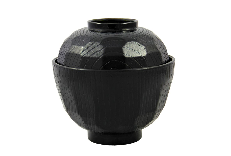 Miso Suppen-Schale mit Deckel [ schwarz ] Ø 10,5cm für ca. 250ml / Tasse