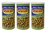 [ 3x 350g ] KHAO SHONG Erdnüsse mit Wasabi überzogen / Wasabi coated Peanuts 001