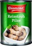 Dosen mit Beulen - [ 425g / 200g ATG ] DIAMOND Reisstrohpilze, ganz / Straw Mushrooms, whole 001