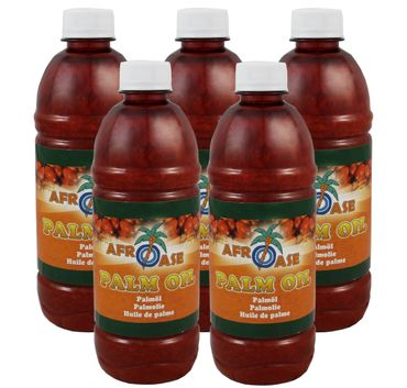 [ 5x 500ml ] AFROASE Palmöl Palm Öl / Palm Oil