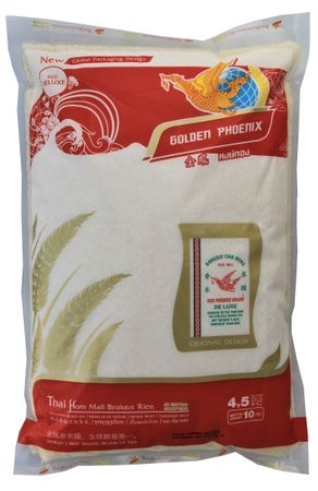[ 4,5kg RED DELUXE ] GOLDEN PHOENIX Thai Duftreis Bruch / Jasmine Broken Rice