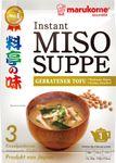 MHD 18.06.2019 - [ 57g ] marukome Instant Miso Suppe GEBRATENER TOFU / Miso-Würzpaste + getrockneter, gebratener Tofu 001