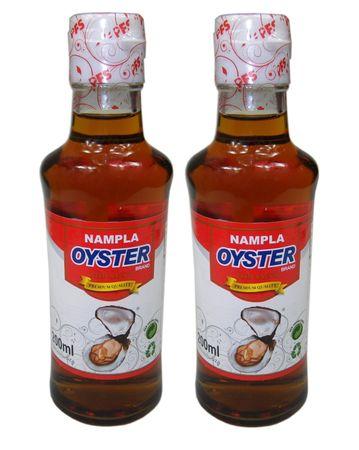 MHD 19.06.2019 - [ 2x 200ml ] OYSTER BRAND Fischsauce / Fisch Sauce / NAM PLA / FISH SAUCE
