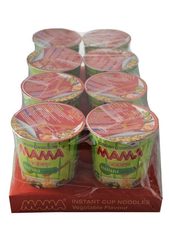 [ 8x 70g ] MAMA Oriental Style Instant Cup Nudeln Geschmacksrichtung Gemüse