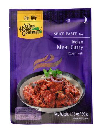 [ 50g ] ASIAN HOME GOURMET Würzpaste für Indisches Curryfleisch Rogan Josh