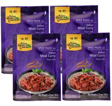 [ 4x 50g ] ASIAN HOME GOURMET Würzpaste für Indisches Curryfleisch Rogan Josh