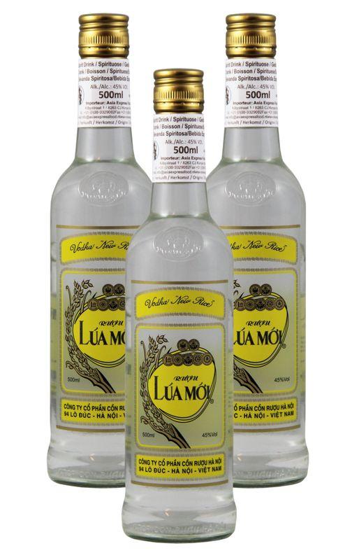 "[ 3x 500ml ] HALICO Lua Moi VODKA ""New Rice"" aus Vietnam / Spirituose Alc. 45% vol."