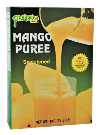 [ 1kg ] Philippine BRAND MangoPüree / Mango - Fruchtmark gesüßt MANGO PUREE