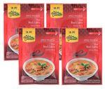 [ 4x 50g ] ASIAN HOME GOURMET Würzpaste für thailändisches rotes Curry / Kaang Daeng 001