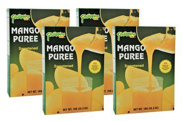[ 4x 1kg ] Philippine BRAND MangoPüree / Mango - Fruchtmark gesüßt MANGO PUREE