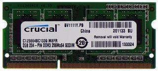 Speicher 2GB Crucial CT25664BC1339.M8FR 204p DDR3 SO-DIMM ID10911
