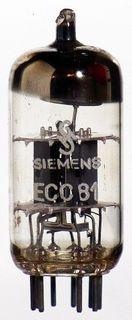 Radioröhre ECC81 Siemens ID1205