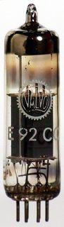 Radioröhre E92CC weiß Valvo ID1219