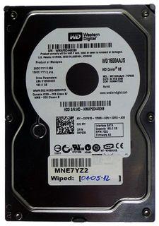 160GB HDD WD Caviar SE WD1600AAJS 8MB Cache SATA2 ID12401