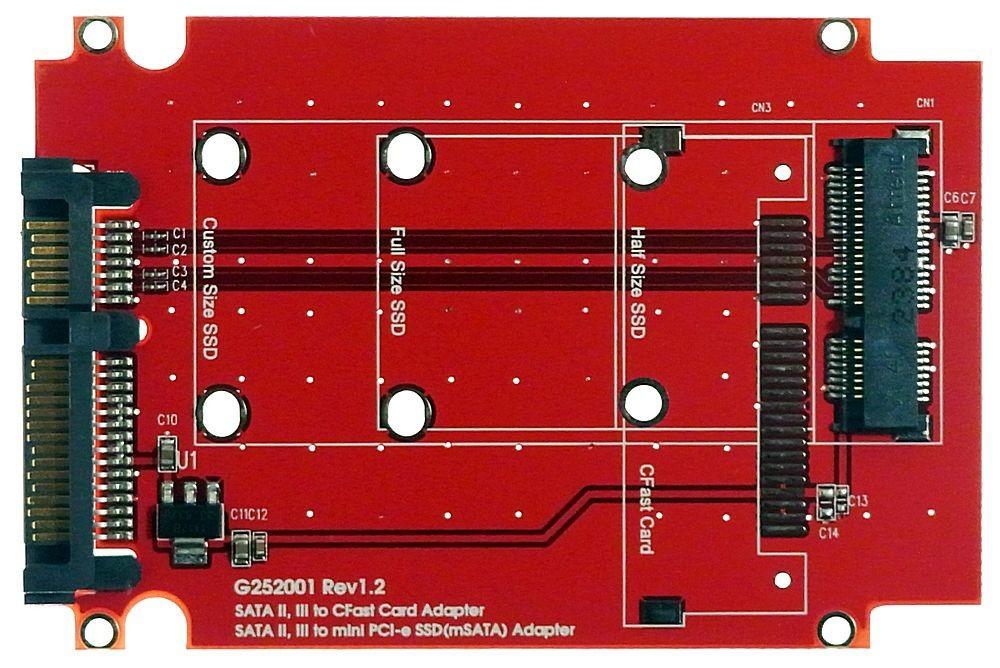 52pin msata ssd zu notebook sata hdd adapter von m ware id13120. Black Bedroom Furniture Sets. Home Design Ideas