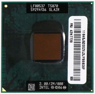 CPU / Prozessor Core 2 Duo Mobile 2GHz T5870 LF80537 SLAZR ID13401