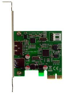 USB 3.0 + eSATA (USB) PCIe Express 1X Adapter, von M-ware®. ID13818