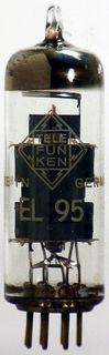 Radioröhre EL95 Telefunken m. Raute ID1424