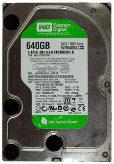 640GB HDD WD Caviar Green WD6400AACS SATA ID14862