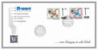FDC 01.11.14 Brief mit 2x Weihnachten 60ct. + 240ct. M-ware® ID14506