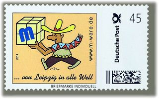 Bogen 45ct. Cartoon-Briefmarke Mexikaner M-ware® ID15070