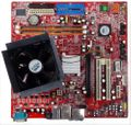 Mainboard MS-7293 Ver. 2 with 2x1GB Ram HYMP512U64CP8-Y5 and CPU #15961