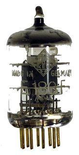 GEPRÜFT: E180F goldpin Radioröhre, Hersteller Telefunken. ID16654