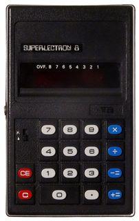 Superlectron 8 Taschenrechner volle Funktion komplett mit Hülle ID18458