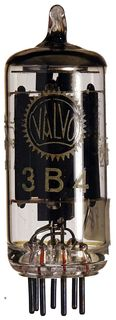 3B4 Beam Power Tube. A vacuum radio tube by Valvo, Hamburg/Germany #18876