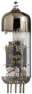 EF183 Pentode neunpolig, eine Radioröhre von London Valve, England. ID19124