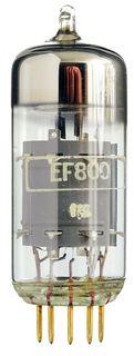 EF800 goldpin Pentode. Eine Radioröhre von WF Berlin. ID19137
