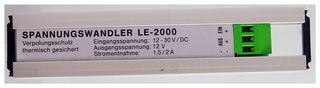 LE-2000 Spannungswandler Input 12-30V DC, Output 12V. 1,5/2A. ID19138