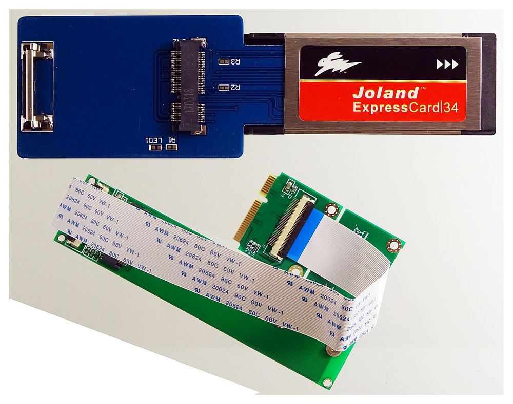 M 2 (NGFF) NVMe SSD to Laptop ExpressCard 34  e g  for Samsung 950/960/970  EVO #19499