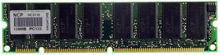 SDRAM Memory 128MB 168pin PC133 with branding #2051