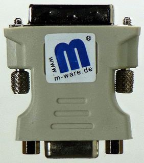 M-ware® DVi-I to VGA Adapter (Dual Link) #335