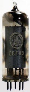 Radio Tube EBF80 Valvo #372