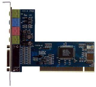 PCI Sound Card CMI8738 Front+Rear #535