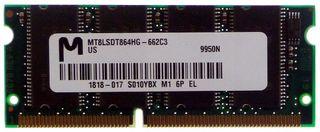 2pcs. 64MB Micron MT8LSDT864HG Laptop RAM #56
