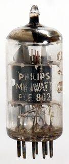Radio Tube (TV) PCF802 Philips Miniwatt #622