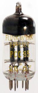Vacuum Tube - Radio Valve (TV) PCC85 Erfurt #629